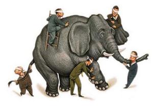 parabola los ciegos y el elefante